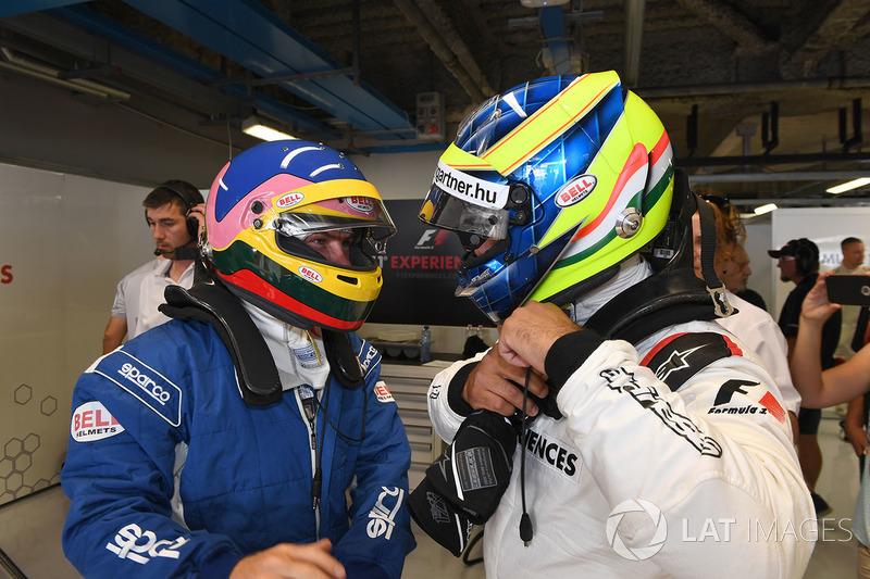 Jacques Villeneuve, F1 Experiences 2-Seater Driver and Zsolt Baumgartner, F1 Experiences 2-Seater driver