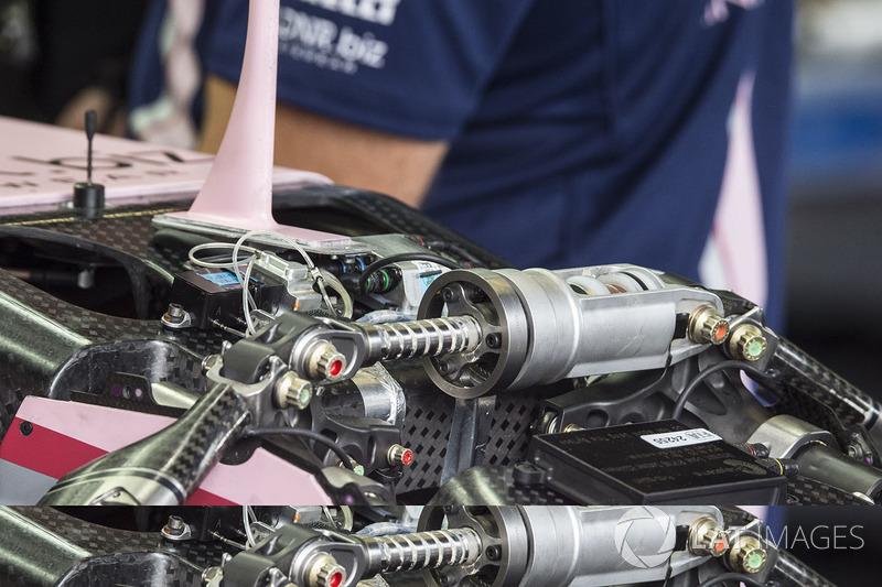 Sahara Force India VJM10 front suspension detail