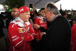 Sergio Marchionne, PDG FIAT et Kimi Raikkonen, Ferrari au 70e anniversaire de Ferrari