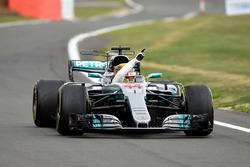 Ganador de la carrera Lewis Hamilton, Mercedes-Benz F1 W08 celebra