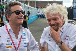 Руководитель Formula E Holdings Алехандро Агаг и Ричард Брэнсон