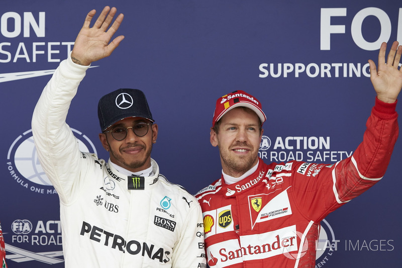 2017: Sebastian Vettel (Ferrari) statt Lewis Hamilton (Mercedes)