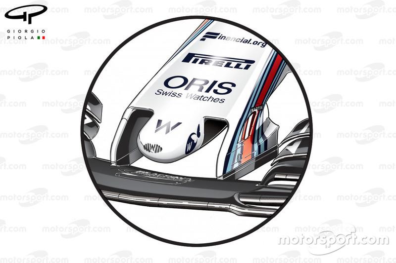 Williams FW40 new nose, British GP