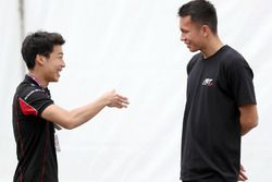 Nirei Fukuzumi con Alexander Albon, ART Grand Prix