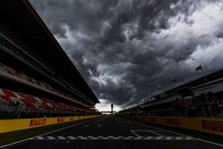 Heavy clouds over the circuit