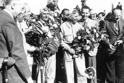 Le vainqueur Giuseppe Farina, Alfa Romeo