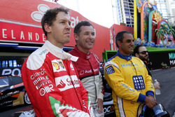 Sebastian Vettel, Tom Kristensen und Juan Pablo Montoya