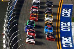 Brad Keselowski, Team Penske Ford, Ryan Reed, Roush Fenway Racing Ford and Austin Dillon, Richard Childress Racing Chevrolet