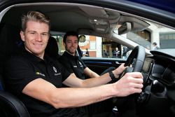 Nico Hulkenberg, Renault Sport F1 Team with team mate Jolyon Palmer, Renault Sport F1 Team