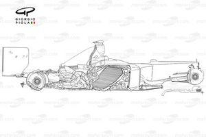 Ferrari F2004 side view