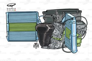 Mercedes FO110J engine, note oil tank position at front of engine