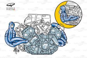 Ferrari F399 engine and exhausts