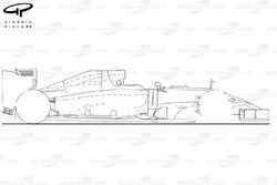 Caterham CT05 side view (outline)