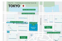 Il percorso di Lucas Di Grassi, ABT Schaeffler Audi Sport, lungo la Marunouchi NakaDori Street