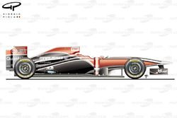 Virgin MVR-02 side view, Brazilian GP