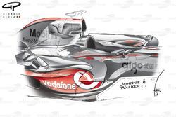 Pontons de la McLaren MP4-22