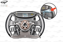 Ferrari F60 steering wheel