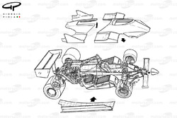 Renault RE30B 1982 bodywork exploded view