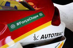 Shell car remembering Chapecoense
