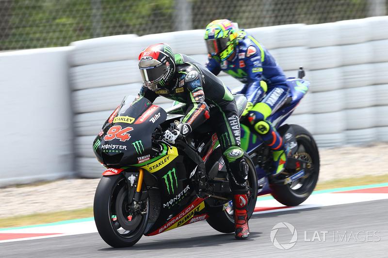 Валентино Росси, Yamaha Factory Racing, и Йонас Фольгер, Monster Yamaha Tech 3
