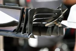 Haas F1 Team VF-17, dettaglio dell'ala anteriore