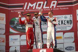 Podio Trofeo Pirelli Super GT3 gara 1, Cassarà-Gentili (Ombra Srl,Lamborghini Huracan-S.GT3 #7), Mo