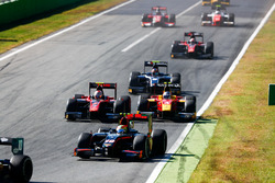 Roberto Merhi, Rapax leads Alexander Albon, ART Grand Prix from Gustav Malja, Racing Engineering