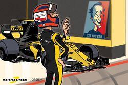 Cartoon van Cirebox - Kubica kan het nog