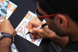 Signature of Karun Chandhok, Tockwith Motorsports