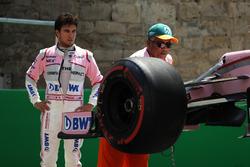 Sergio Perez, Sahara Force India VJM10 va a sbattere nelle FP1