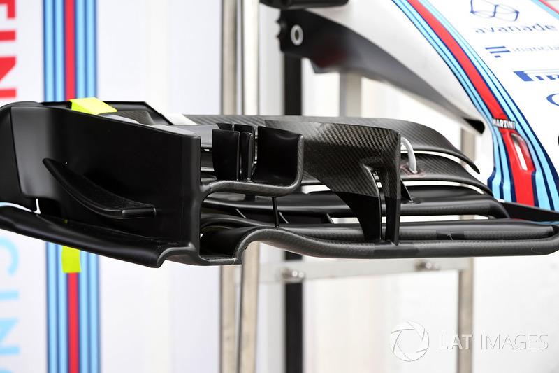 Williams FW40 detalle de ala delantera