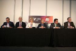 Francois Dumontier, Promoter GP Kanada; Denis Coderre, Bürgermeister von Montreal; Ross Brawn, Forme