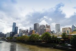 A view of Melbourne over the Yarra River