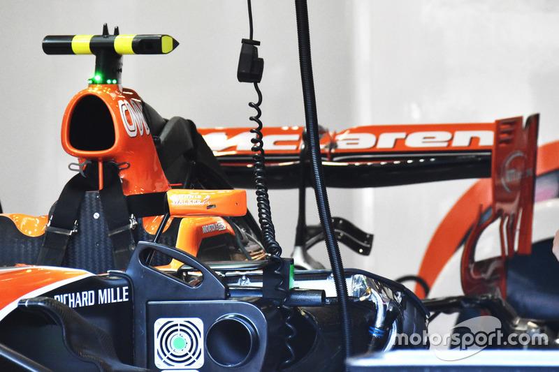 Il posteriore della McLaren MCL32