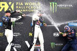 Podium : Mattias Ekström, EKS, Audi S1 EKS RX Quattro, Johan Kristoffersson, PSRX Volkswagen Sweden, VW Polo GTi, Timmy Hansen, Team Peugeot-Hansen, Peugeot 208 WRX