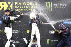 Podio: Mattias Ekström, EKS, Audi S1 EKS RX Quattro, Johan Kristoffersson, PSRX Volkswagen Sweden, V