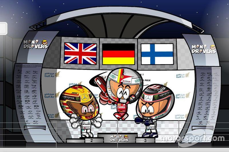 El GP de Bahrein 2017 de F1 según Los Minidrivers