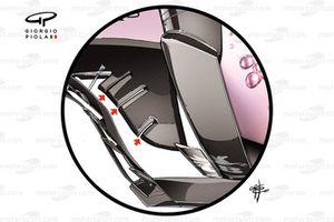 Force India VJM10 floor detail