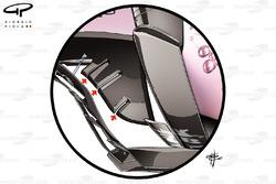 Extensions de plancher de la Force India VJM10