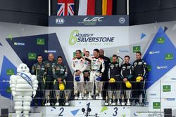 Podium GTE-Am: 1. #61 Clearwater Racing, Ferrari 488 GTE: Mok Weng Sun, Matt Griffin, Keita Sawa; 2.