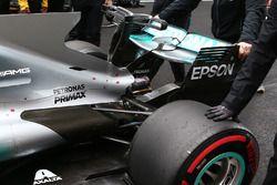 Detalle trasero del Mercedes AMG F1 W08