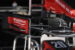 Haas F1 Team VF-17 detalle de ala delantera
