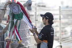 Sergio Pérez, Force India con fans