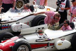 Tony Stewart drives one of A.J. Foyt's Indianapolis 500 winning cars
