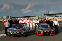 #9 Audi Sport Team WRT, Audi R8 LMS: Nico Müller, Marcel Fässler, Robin Frijns, René Rast and #10 Au