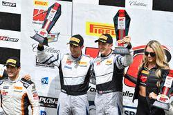 Podium: race winners Dane Cameron, Spencer Pumpelly, Magnus Racing