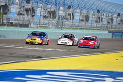 #810 MP3B BMW 325 driven by Pedro Rodriguez & Alberto De Las Casas of TML USA, #133 MP4C Honda Civic