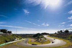 Daniel Ricciardo, Red Bull Racing RB13, Valtteri Bottas, Mercedes AMG F1 W08, Sergio Perez, Sahara Force India F1 VJM10