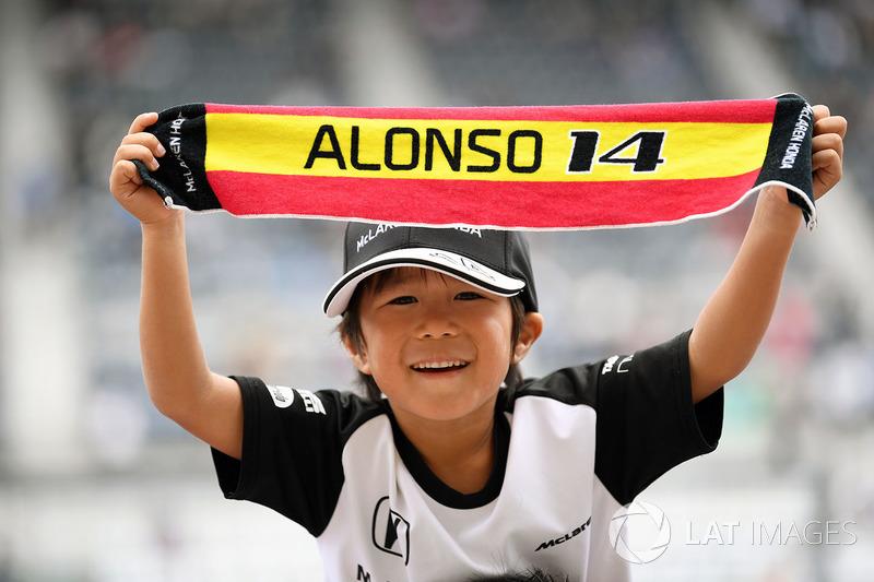 Fernando Alonso, McLaren fan y banner