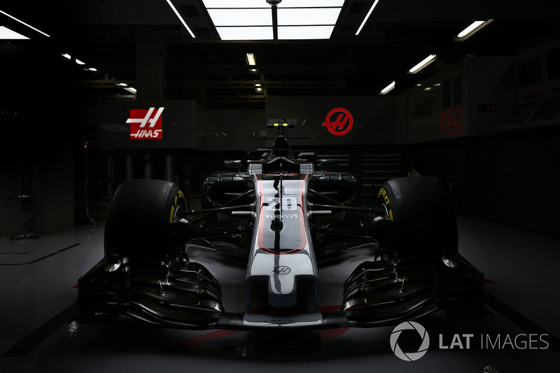 The Haas F1 Team VF-17 of Kevin Mgnussen